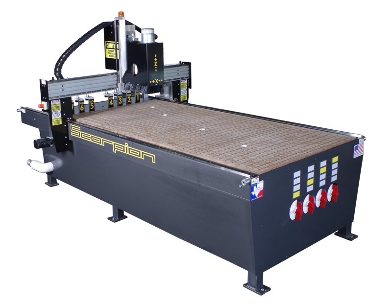 Scorpion CNC Router - Your goto CNC Router for heavy production shops.