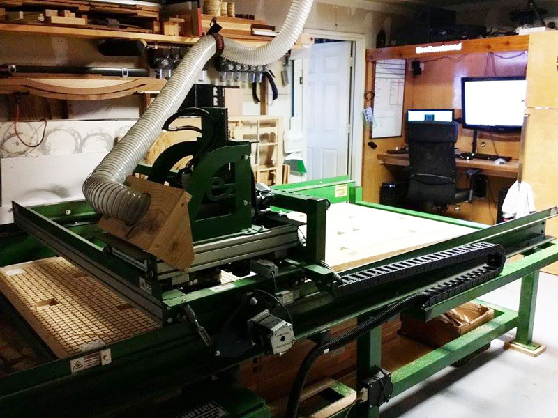CNC Router setup at Wood Experimental