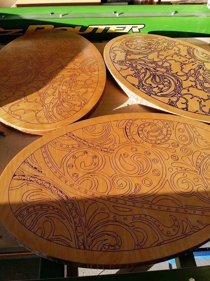 Engraved End Tables