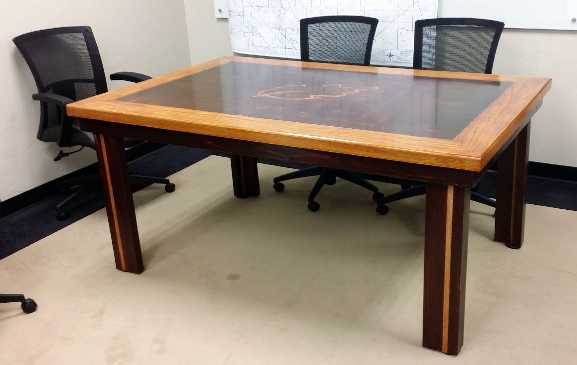 Reclaimed Wood Door Conference Table