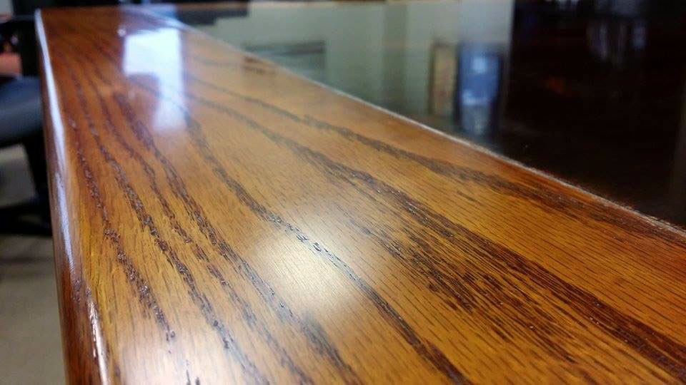 Red Oak Trim Recycled Door Table