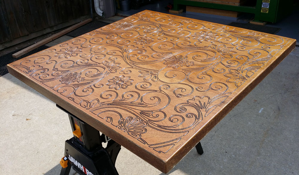 ... Cnc Routed Table Top E